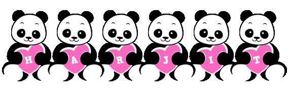 Harjit love-panda logo