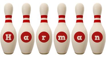 Harman bowling-pin logo