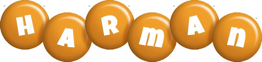 Harman candy-orange logo