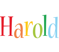 Harold birthday logo