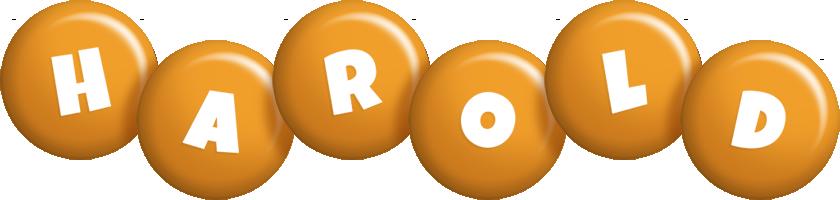 Harold candy-orange logo