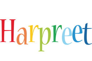 Harpreet birthday logo