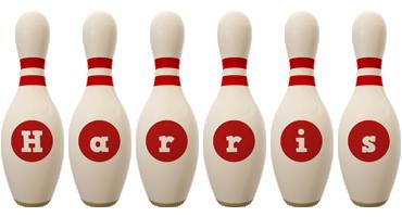 Harris bowling-pin logo