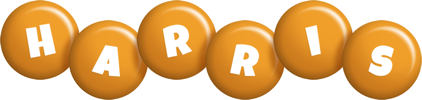 Harris candy-orange logo