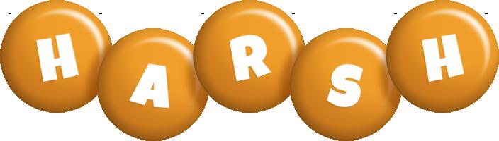 Harsh candy-orange logo