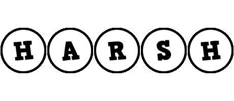 Harsh handy logo