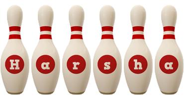 Harsha bowling-pin logo