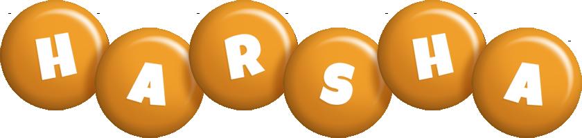 Harsha candy-orange logo