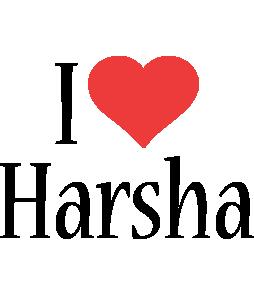 Harsha i-love logo