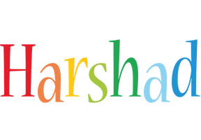 Harshad birthday logo