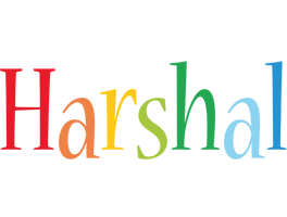 Harshal birthday logo