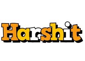Harshit cartoon logo