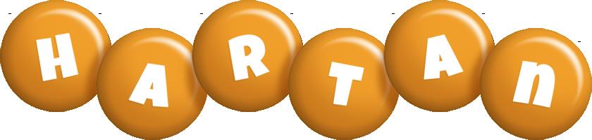 Hartan candy-orange logo