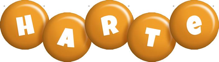 Harte candy-orange logo