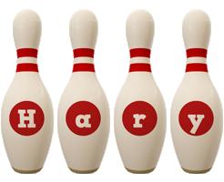 Hary bowling-pin logo