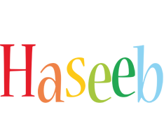 Haseeb birthday logo