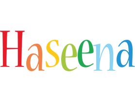 Haseena birthday logo