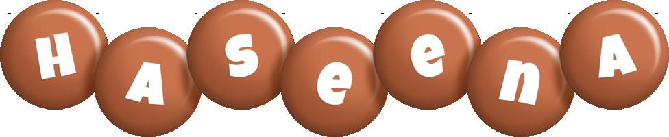 Haseena candy-brown logo