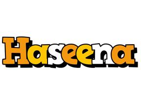 Haseena cartoon logo