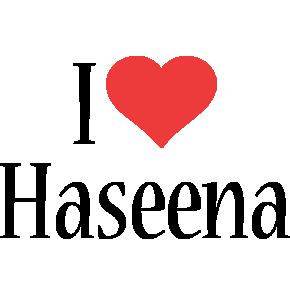 Haseena i-love logo