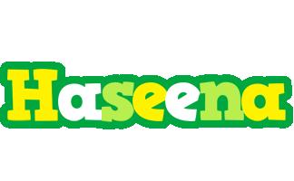 Haseena soccer logo
