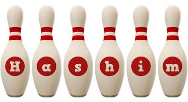 Hashim bowling-pin logo