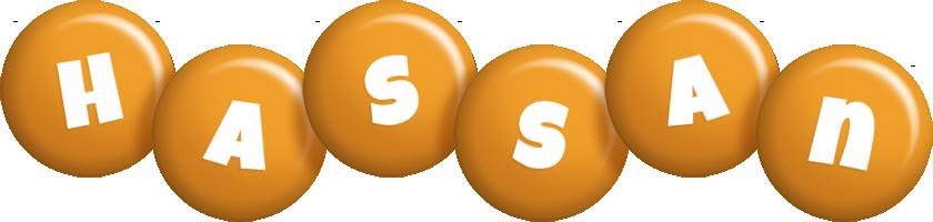 Hassan candy-orange logo