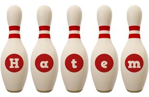 Hatem bowling-pin logo
