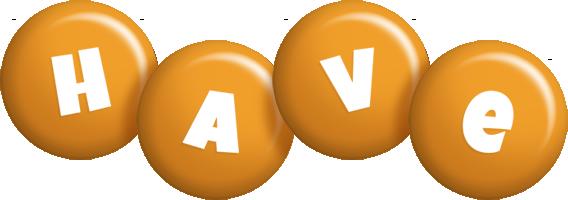 Have candy-orange logo
