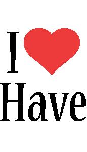 Have i-love logo