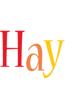 Hay birthday logo