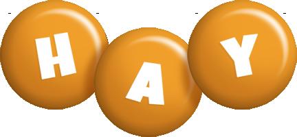 Hay candy-orange logo