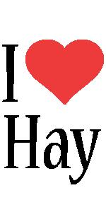 Hay i-love logo