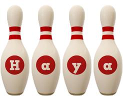 Haya bowling-pin logo