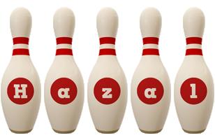 Hazal bowling-pin logo