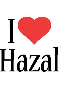 Hazal i-love logo