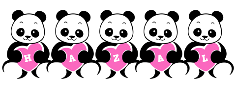 Hazal love-panda logo