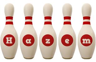 Hazem bowling-pin logo