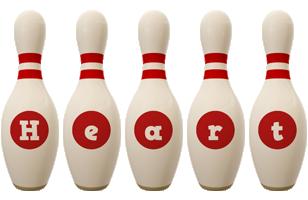 Heart bowling-pin logo