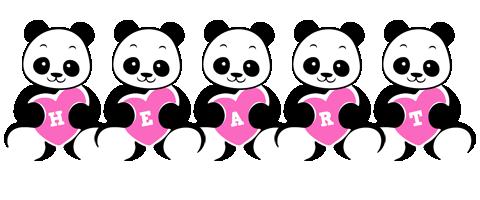 Heart love-panda logo