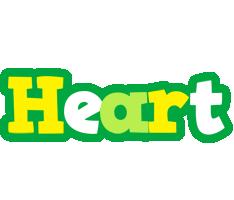 Heart soccer logo