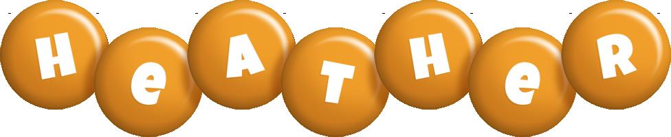 Heather candy-orange logo