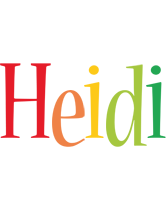 Heidi birthday logo