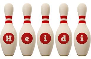 Heidi bowling-pin logo