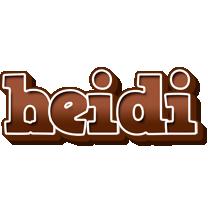 Heidi brownie logo
