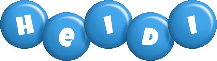 Heidi candy-blue logo