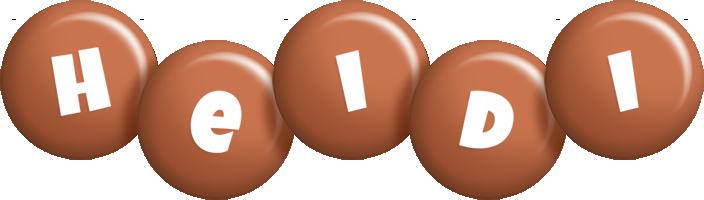 Heidi candy-brown logo