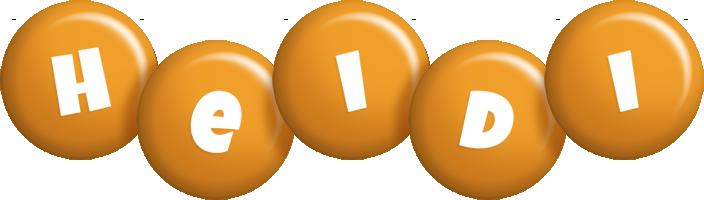 Heidi candy-orange logo