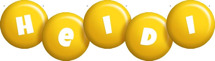 Heidi candy-yellow logo