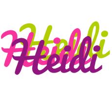 Heidi flowers logo